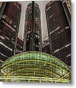 Renaissance Center Detroit Michigan Metal Print by Nicholas  Grunas