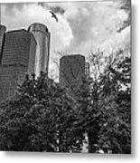 Renaissance Center In Detroit Metal Print