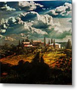Renaissance Landscape With Power Lines Metal Print