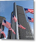 Rencen And Flags Metal Print