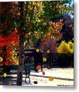 Reno Riverwalk In The Fall Metal Print