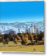 Reno Skyline Poster Metal Print