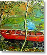 Renoirs Canoe Metal Print by Charlie Spear