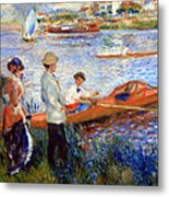 Renoir's Oarsmen At Chatou Metal Print