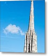 Renovation Of St.stephan Cathedral In Vienna - Austria Metal Print
