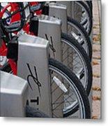 Rental Bikes Metal Print