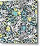 Repeat Print - Floral Burst Metal Print