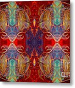 Repeating Realities Abstract Pattern Artwork By Omaste Witkowski Metal Print