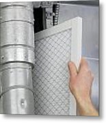 Replace Home Air Filter Metal Print
