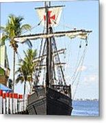 Replica Of The Christopher Columbus Ship Pinta Metal Print