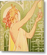 Reproduction Of A Poster Advertising 'robette Absinthe' Metal Print