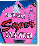 Elephant Super Car Wash Sign Seattle Washington Metal Print