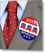 Republican Vote Badge Metal Print