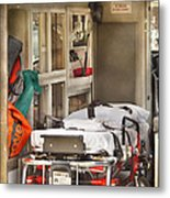 Rescue - Inside The Ambulance Metal Print