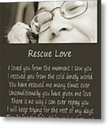 Rescue Love Adoption Metal Print