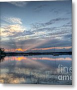 Reservoir Sunset Metal Print