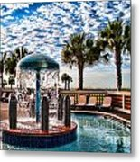 Resort Pool Metal Print