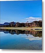 Resort Reflections 2 Metal Print