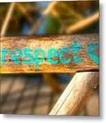 Respect Caye Caulker  Metal Print
