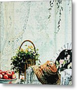 Rest From Garden Chores Metal Print