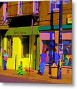 Restaurant El Pintxo Rue Roy Plateau Montreal Basque Food Spanish Cafe City Scene Art Carole Spandau Metal Print