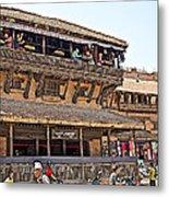 Restaurant In Bhaktapur Durbar Square In Bhaktapur-nepal Metal Print