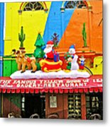 Restaurant In Gateway To The Amazon River In Iquitos-peru Metal Print