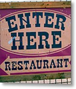 Restaurant Sign Color Metal Print