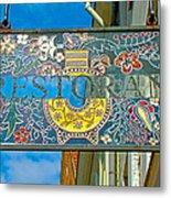 Restaurant Sign In Old Town Tallinn-estonia Metal Print