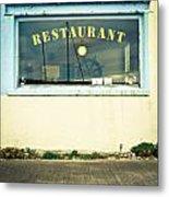 Restaurant Window Metal Print