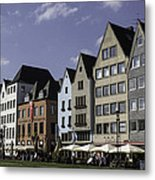 Restaurants And Brewpubs Along The Rhine Cologne Metal Print