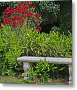Restful Park Bench Metal Print