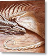 Restful Wyrm Metal Print by Jeremy McHugh