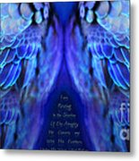 Psalm 91 Wings Metal Print