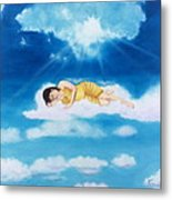 Resting In The Heights Metal Print