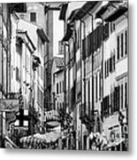Restless In Arezzo-italy Metal Print