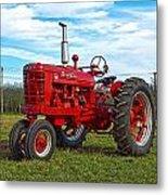 Restored Farmall Tractor Hdr Metal Print