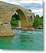 Restored Roman Bridge Over Eurynedan River-turkey Metal Print