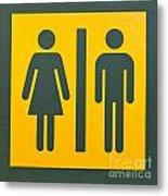 Restroom Sign Symbol For Men And Women Metal Print