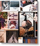 Restroom Wall Collage Metal Print