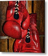 Retired Boxing Gloves Metal Print by Paul Ward