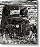 Retired Farm Truck Metal Print