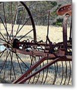 Retired Hay Rake Metal Print