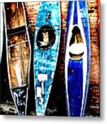 retired Kayaks Metal Print by Rebecca Adams