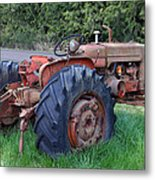 Retired Tractor Metal Print