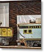 Retired Trains Metal Print