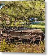 Retired Wagon At Thousand Trails Metal Print