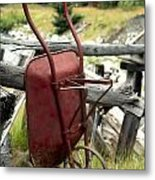 Retired Wheelbarrow Metal Print