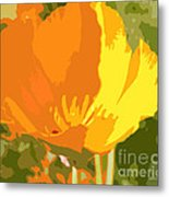 Retro Abstract Poppies 2 Metal Print