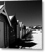 Retro Beach Huts II Metal Print